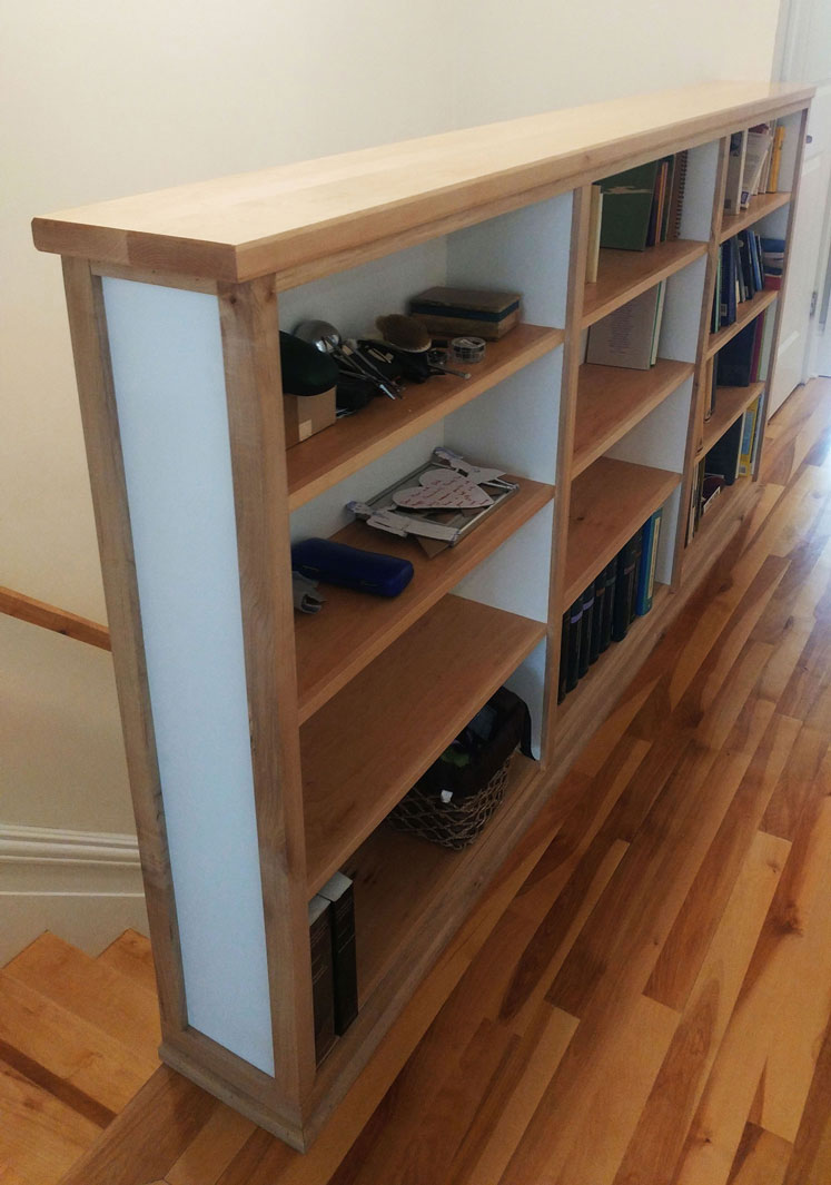 Maple Bookcase Guardrail And Entrance Way Armoire
